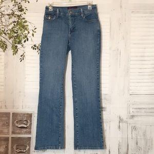 Nydj jeans with back flaps pockets sz 2P